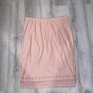 Light pink pencil skirt euc size xl like new